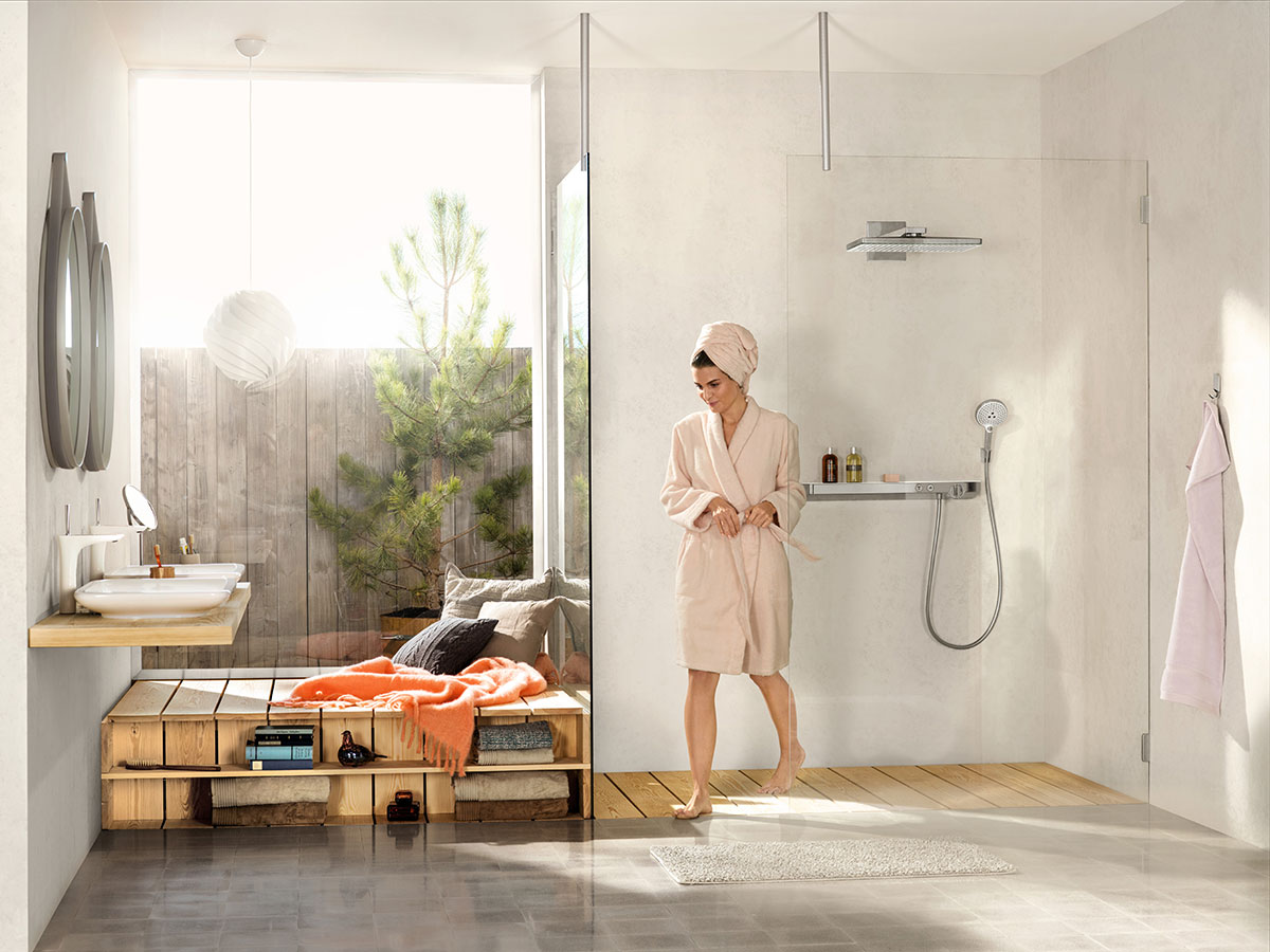 klassische steinwand im innendesign trends fuers esszimmer, badezimmer-trends & kreative wohntrends | hansgrohe at, Innenarchitektur